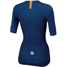 Sportful Bodyfit Pro Evo Jersey Dames, blue twilight gold